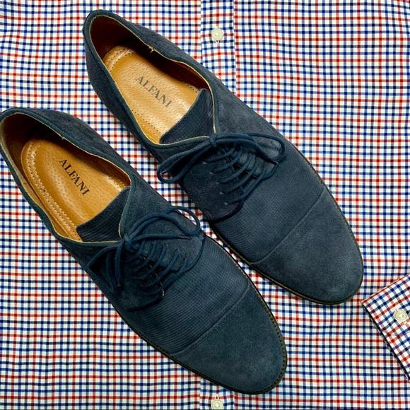 Blue Suede Size 11 M Cap Toe Eric